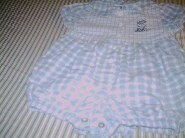 6 - 9 MTHS - BABY B'GOSH - INFANT GIRL - ROMPER SUIT