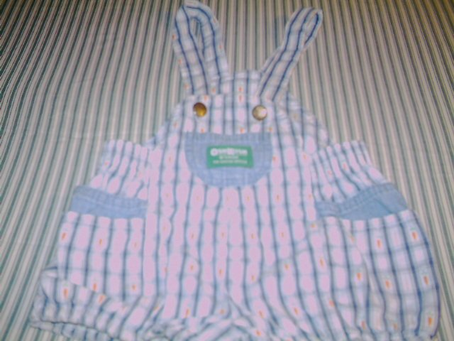24 MTHS -OSHKOSH- INFANT BOYS OVERALL ROMPER SUIT