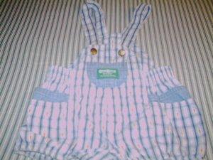 24 MTHS -OSHKOSH- INFANT BOYS OVERALL ROMPER SUIT