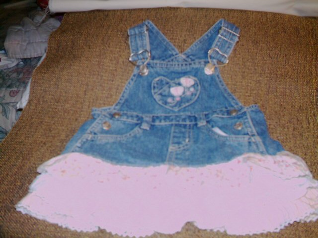 18 MTHS- FADED GLORY - INFANT GIRL OVERALL DRESS