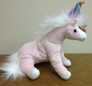 eada7ebaa2b CHARMER 2002 Retired Ty Beanie Baby Pink Unicorn MWMT