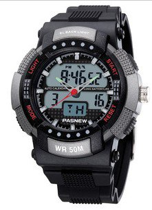 Pasnew PSE-361 imitation military uniform , outdoor sports, fashion waterproof watch for students