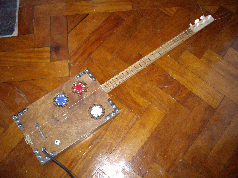 cigar box guitar 3 string hand crafted. Black Bedroom Furniture Sets. Home Design Ideas