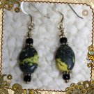 Hope Springs Black and Gold Stone Earrings