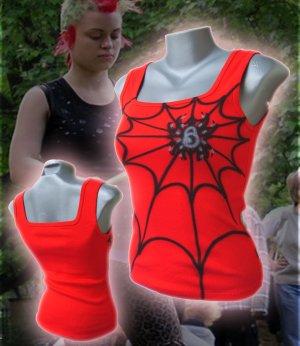 Spiderweb Punk Tank Top Red