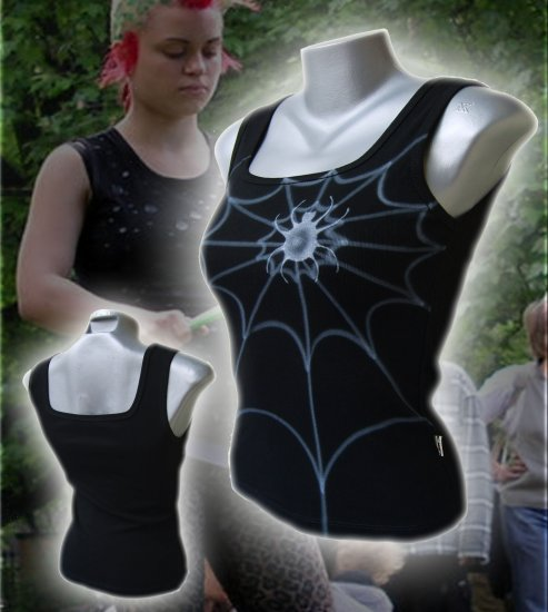 Spiderweb Punk Tank Top Black