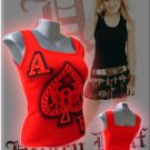 Ace of Spades 'Take a Gamble' Tank Top Red