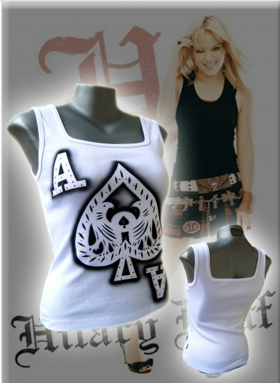 Ace of Spades 'Take a Gamble' Tank Top White