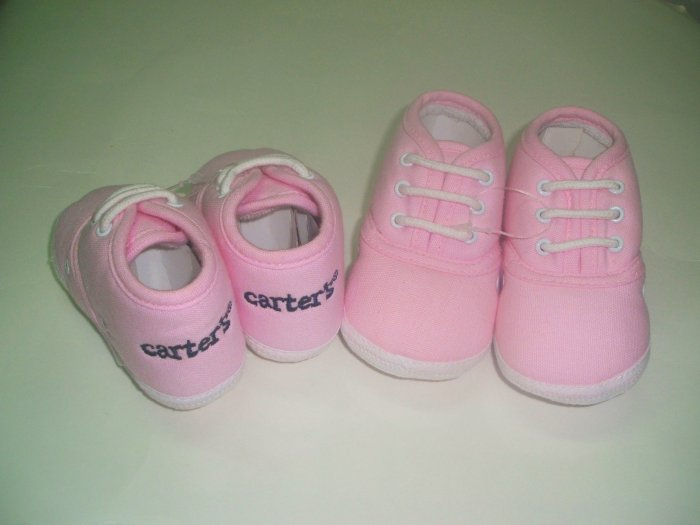 Carters Baby Pink Shoes - Size 2
