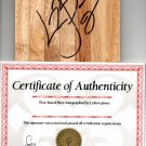 Lebron James signed floorboard with COA