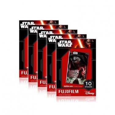 5 Packs Star Wars 2016 FujiFilm Fuji Instax Mini Film, 50 Photos Polaroid 7S 8 25 50S 70 X345