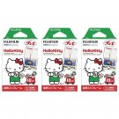 3 Packs Hello Kitty FujiFilm Fuji Instax Mini Film, 30 Photos Polaroid 7S 8 25 70 X148