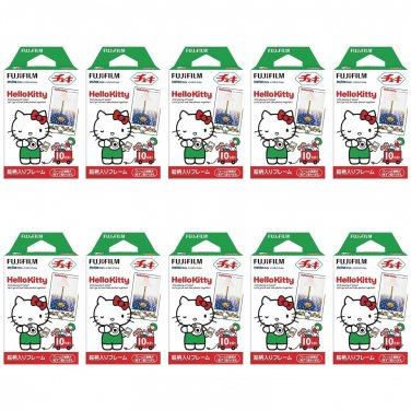 10 Packs Hello Kitty FujiFilm Fuji Instax Mini Film, 100 Photos Polaroid 7S 8 25 70 X148