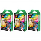 3 Packs Rainbow FujiFilm Fuji Instax Mini Film, 30 Photos Polaroid 7S 8 25 70 X149