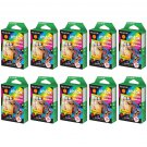 10 Packs Rainbow FujiFilm Fuji Instax Mini Film, 100 Photos Polaroid 7S 8 25 70 X149