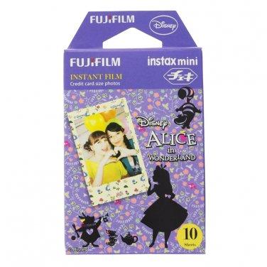 1 Pack Disney Alice in Wonderland FujiFilm Fuji Instax Mini Film, 10 Photos Polaroid 7S 8 25 70 X234