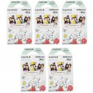 5 Packs Winnie The Pooh FujiFilm Fuji Instax Mini Film, 50 Photos Polaroid 7S 8 70 X235