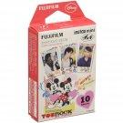1 Pack Disney Mickey and Friends FujiFilm Fuji Instax Mini Film, 10 Photos Polaroid 7S 8 25 70 X236