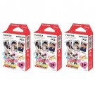 3 Packs Disney Mickey and Friends FujiFilm Fuji Instax Mini Film, 30 Photos Polaroid 7S 8 70 X236