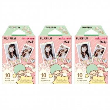 3 Packs Sanrio Little Twin Stars FujiFilm Fuji Instax Mini Film, 30 Photos Polaroid 7S 8 70 X240