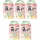 5 Packs Sanrio Little Twin Stars FujiFilm Fuji Instax Mini Film, 50 Photos Polaroid 7S 8 70 X240