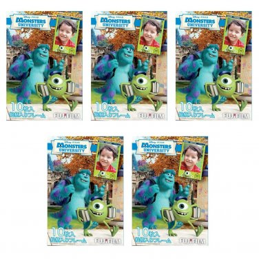 5 Packs Pixar Monster University FujiFilm Fuji Instax Mini Film, 50 Photos Polaroid 7S 8 70 X243