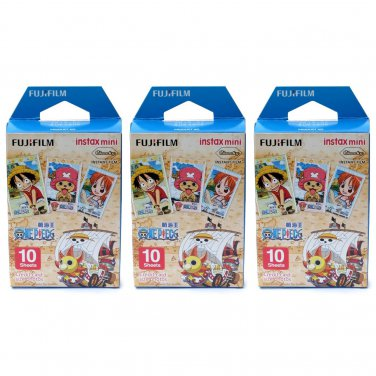 3 Packs One Piece FujiFilm Fuji Instax Mini Film, 30 Photos Polaroid 7S 8 70 X253
