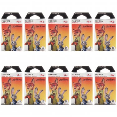 10 Packs Disney ZOOTOPIA (2nd Edition) FujiFilm Fuji Instax Mini Film, 100 Polaroid 7S 8 25 70 X348