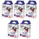 5 Packs Airmail FujiFilm Fuji Instax Mini Film, 50 Photos Polaroid 7S 8 70 X282