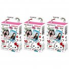 3 Packs Sanrio Hello Kitty 2016 FujiFilm Fuji Instax Mini Film, 30 Photos Polaroid 7S 8 70 X349