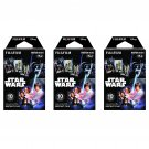 3 Packs Star Wars FujiFilm Fuji Instax Mini Film, 30 Photos Polaroid 7S 8 25 50S 70 X338