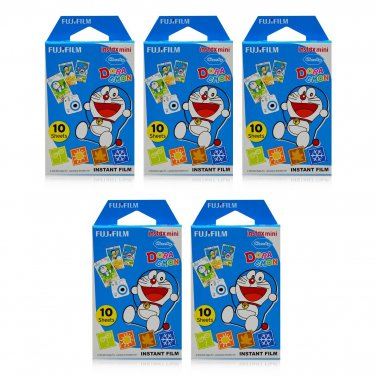 5 Packs Doraemon Four Seasons FujiFilm Fuji Instax Mini Film, 50 Photos Polaroid 7S 8 25 70 X343