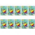 10 Packs SpongeBob Ocean FujiFilm Fuji Instax Mini Film, 100 Photos Polaroid 7S 8 25 70 X326