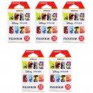 5 Packs Disney PIXAR FujiFilm Fuji Instax Mini Film, 50 Photos Polaroid 7S 8 25 70 X327