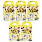5 Packs Looney Tunes FujiFilm Instax Mini Film, 50 Photos Polaroid 7S 8 25 70 X330