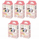 5 Packs Sanrio My Melody 2015 FujiFilm Instax Mini Film, 50 Photos Polaroid 7S 8 25 70 X339