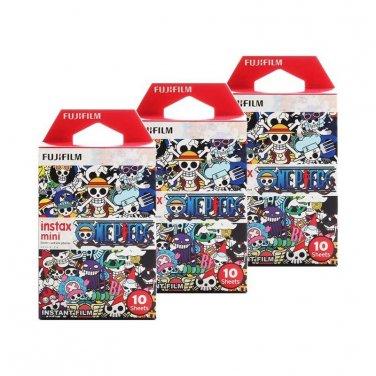 3 Packs One Piece 2015 FujiFilm Instax Mini, 30 Photos Polaroid 7S 8 25 70 X340