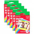 5 Packs 100 Rainbow Instant Photos Fuji FujiFilm Instax Wide Film Polaroid Camera 200 210 X353