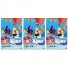 3 Packs Disney Pixar Finding Dory FujiFilm Instax Mini, 30 Photos Polaroid 7S 8 25 70 X355