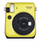 Yellow Colour FujiFilm Fuji Instax Mini 70 Instant Photos Films Polaroid Camera