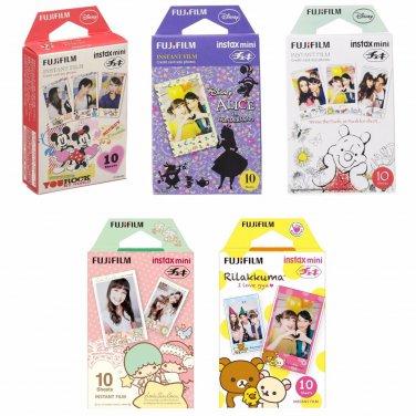 Mickey & Alice & Pooh & Twin Stars & Rilakkuma FujiFilm Instax Mini 50 Photos Polaroid 7S 8 25 70 90