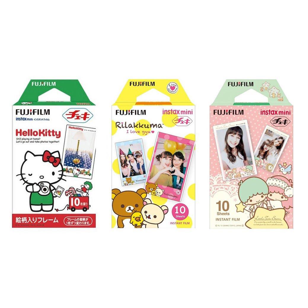 Hello Kitty & Rilakkuma & Little Twin Stars FujiFilm Instax Mini, 30 Photos Polaroid 7S 8 25 70 90