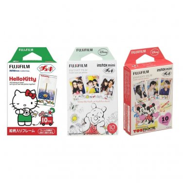 Hello Kitty & Winnie The Pooh & Mickey FujiFilm Instax Mini, 30 Photos Polaroid 7S 8 25 70 90