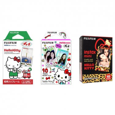 Hello Kitty Value Set FujiFilm Instax Mini Instant Film 30 Photos Polaroid 7S 8 25 70 90