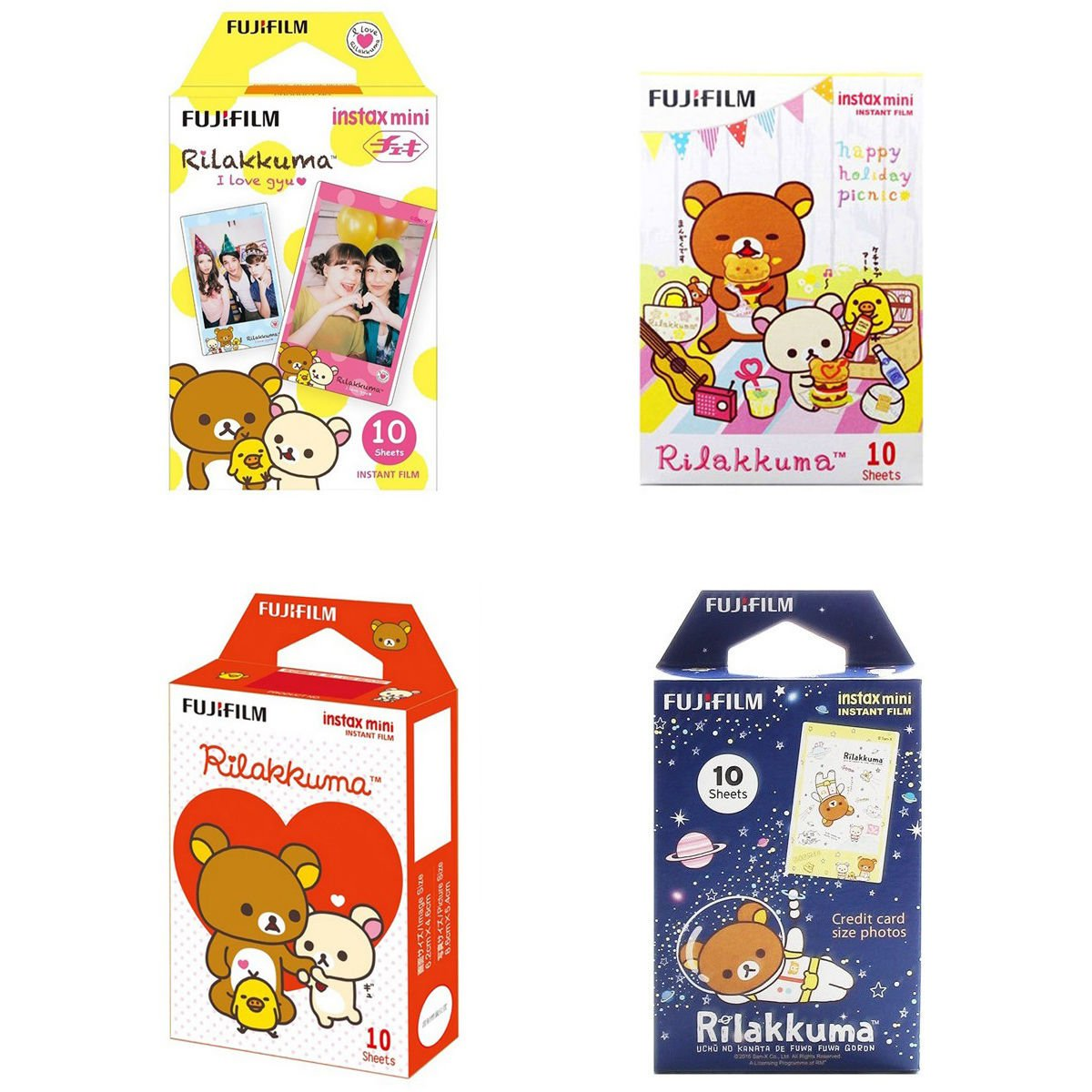 Rilakkuma Value Set FujiFilm Instax Mini 40 Instant Camera Photos Polaroid 7S 8 25 70 90
