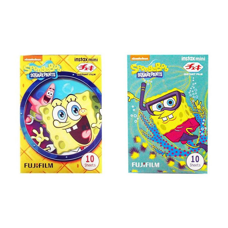 SpongeBob Value Set FujiFilm Instax Mini Instant 20 Photos Polaroid 7S 8 25 70 90
