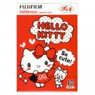 1 Pack Hello Kitty So cute! FujiFilm Instax Mini, 10 Photos Polaroid 7S 8 25 50S 70 X354