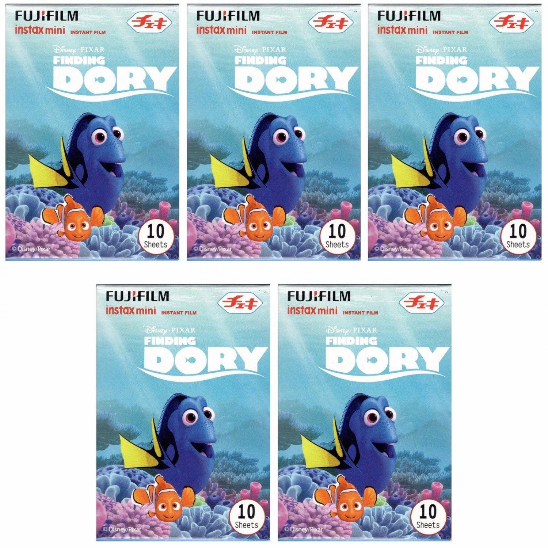 5 Packs Disney Pixar Finding Dory 2nd FujiFilm Instax Mini 50 Photos Polaroid 7S 8 25 50S 70 X356