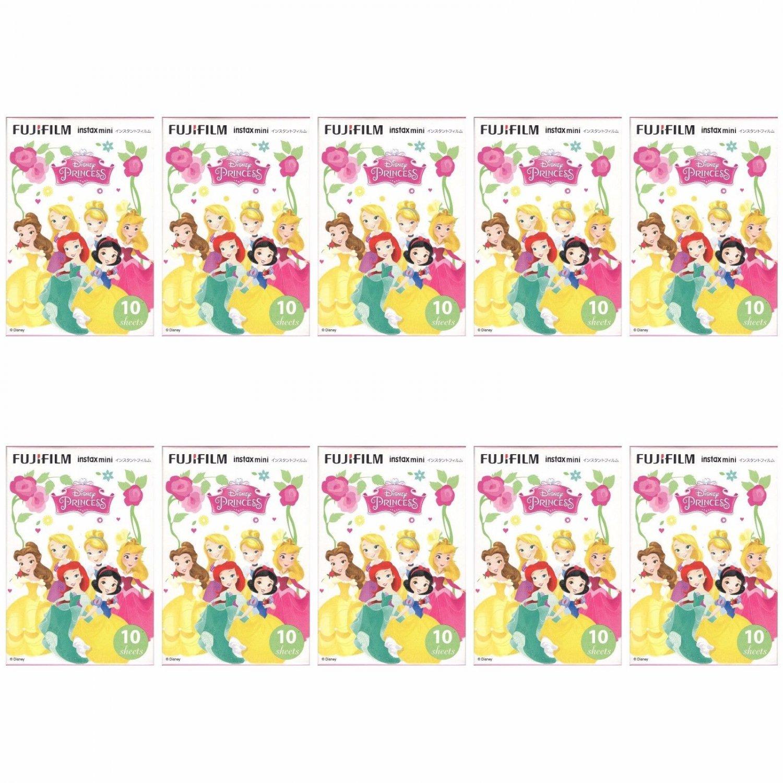 10 Packs Disney Princess FujiFilm Instax Mini 100 Photos Polaroid 7S 8 25 50S 70 90 X357