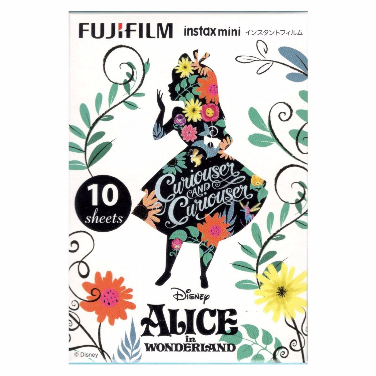 1 Pack Alice in Wonderland Curiouser FujiFilm Instax Mini 10 Photos Polaroid 7S 8 25 50S 70 90 X360